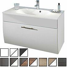 Waschtisch Set Zettel Weiß (Waschbecken mit