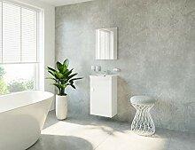 Waschtisch + Spiegel Badmöbel Set für Gäste Bad