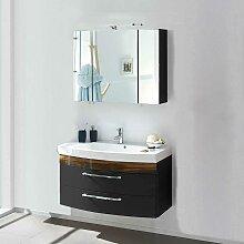 Waschtisch und Spiegelschrank in Anthrazit