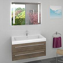 Waschtisch Waschbecken Leuchtspiegel BSP09