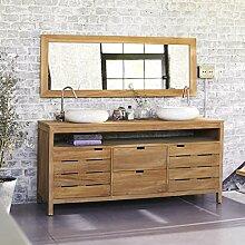 Waschtisch Holz günstig online kaufen   LIONSHOME   {Doppelwaschtisch holz kaufen 14}