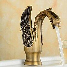 Waschtischarmatur Antique Swan Design Hot & Cold