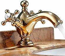 Waschtischarmatur Gold Massivem Messing Badezimmer