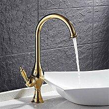 Waschtischarmatur Messing Kalt Warmwasser Bad 360