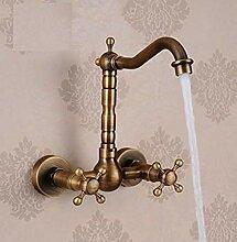 Waschtischarmatur Retro Becken Wasserhahn Messing