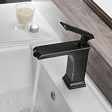 Waschtischarmatur Retro Becken Wasserhahn Schwarz