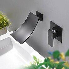 Waschtischarmatur Wasserfall Wandmontage