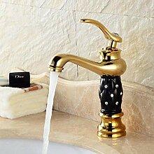 Waschtischarmaturen Goldene Waschbecken Wasserhahn