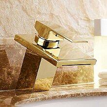 Waschtischarmaturen Messing Goldener Wasserfall