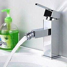 Waschtischarmaturen Modernes Bidet Armatur aus Messing-Verchrom