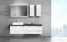 Waschtischplatte mit Waschbecken und Lichtspiegel