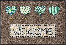 wash + dry 060147 Fußmatte Welcome Hearts 50 x 75