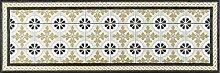 wash + dry 087984 Kitchen Tiles Fußmatte, Acryl, beige, 60 x 180 x 0.7 cm