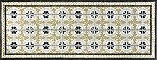 wash + dry 087991 Kitchen Tiles Fußmatte, Acryl, beige, 75 x 190 x 0.7 cm