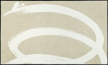 wash + dry 088516 Basic Twist Fußmatte, Acryl, Beige, 75 x 120 x 0.7 cm