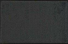 wash+dry Fußmatte Dunkelgrau 50x75 cm