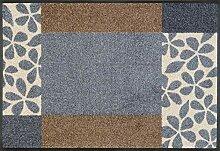 wash+dry Fußmatte, Polyester, Grau, 50 x 75 cm