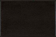 wash+dry Fußmatte Schwarz 50x75 cm