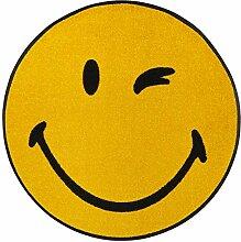 wash+dry Fußmatte Smiley Winky rund 75 cm