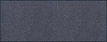 wash+dry Fußmatte Stahlblau 75x190 cm