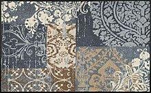 wash+dry Fußmatte Vintage Patches, 75x120 cm,