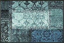 Wash + Dry Vintage Patches türkis Fußmatte,