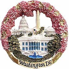 Washington DC USA 3D Runde Kühlschrankmagnet