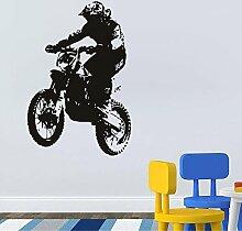 wassaw Kalten Reiter Motorrad Muster Wandaufkleber