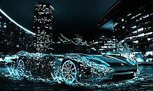 Wasser Auto DIY 5D Diamant Malerei Harz Stickerei Kreuz Stich Herbst Bild Zuhause Dekoration Mosaik Kits , square diamond , 50x30