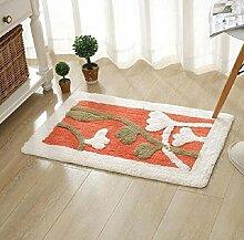 Wasser Einlass Türmatten Wohnzimmer Schlafzimmer Home Teppich Matten Küche Badezimmer Non - Slip Matten ( farbe : A5 , größe : 45*70cm )