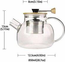 Wasser Kocher Tee Kanne 850Ml 1600Ml Glas Teekanne