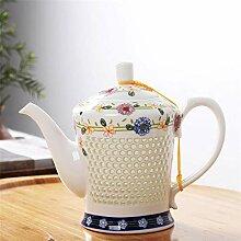 Wasser Kocher Tee Kanne Hive Blue White Porzellan
