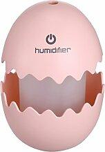 Wasser - reinigung der Luft ei - nacht - Licht mini - USB - luftbefeuchter.,Pink