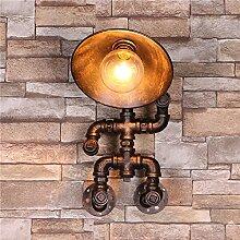 Wasser Rohr Wandleuchte Retro Water Pipe Lampe