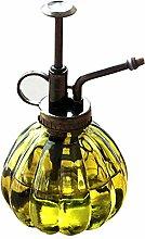 Wasser Spray Flasche Vintage Kürbis Stil Deko Glas Pflanzen Wasser Zerstäuber kann Topf | Pflanze Mister mit Top Pumpe für Innen Topfpflanzen Terrarien Blumen [gelb]