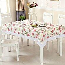 Wasser und Öl Beweis Tischdecke/pvcGrüne Tischdecke/ Round Table/Einweg-Garten Tischdecke-E 110x150cm(43x59inch)