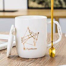 Wasserbecher 12 Constellation-Keramik-Becher mit