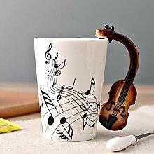 Wasserbecher Kaffeetasse-Schale Musik Violine