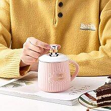 Wasserbecher Keramische kreative Milchkuh-Tasse