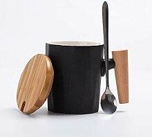 Wasserbecher Kreativ Holzgriff Keramikbecher