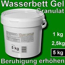 Wasserbett Gel Granulat - Vergelung von
