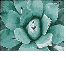 Wasserblumen DIY Färbung Farbe nach Zahlen