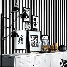 Wasserdicht 0,53 * 10 m pro Rolle schwarze und weiße Tapeten abwaschbare PVC-Streifen Tapete