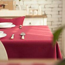Wasserdicht]/burn-proof/Öl-beweis/home tischdecke,vintage tischdecke,pvc.deluxe tischtuch/teetisch/sauber/längliche tischdecke-red-Rot 140x220cm(55x87inch)
