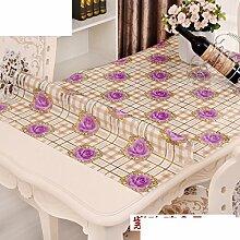 Wasserdicht],Öl-beweis,einweg,pvc tischdecke/tischtuch/tischtuch/transparent,kunststoff tischdecken/tisch mat crystal board-D 70x130cm(28x51inch)