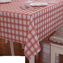 Wasserdicht,Öl-beweis,pvc,einweg,tischtuch/anti-hot coffee-table-kissen/schreibtisch-tischdecke/kunststoff,ländliche tischdecke-C 138x220cm(54x87inch)
