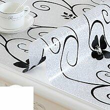 Wasserdicht pvc tischdecke/zu vermeiden, ein bügeleisen/-brett tischdecken/einweg-transparente tischdecke/couchtisch tischmatte/crystal tischdecke-H 70x120cm(28x47inch)