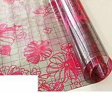 Wasserdicht pvc weiche glasgewebe gedruckten matte coffee table pad tischdecke kunststoff kristall-teller anti-Öl-tischdecke-G 90x150cm(35x59inch)