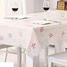 Wasserdicht,spitzen tischdecke/Öl-beweis,einweg-tischdecken/tee tischdecke/kunststoff,stoffe,pvc tischdecke/weichglas matte für tabelle-N 132x100cm(52x39inch)