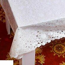 Wasserdicht,spitzen tischdecke/Öl-beweis,einweg-tischdecken/tee tischdecke/kunststoff,stoffe,pvc tischdecke/weichglas matte für tabelle-Q 132x80cm(52x31inch)